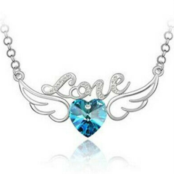 Jewelry - 💙Blue💙Crystal💙Love💙Wings💙Necklace💙